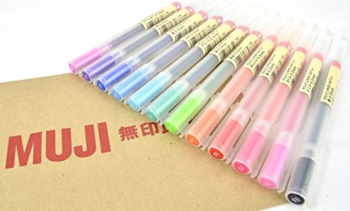 MoMa MUJI Gel Ink Ball Point Pen 0.5mm Full Set Color x 12