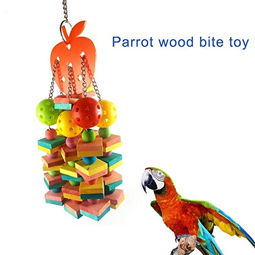 LuffyBin-Large Medium Parrots Bite Toys Natural Wood Bird Chewing Toy 2019ing – Chew Items Coconut Rope Noisemakers…