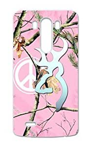 777Life Protective Phone Case Cover for LG G3 Browning Cutter Logo Pink Camo Peace Sign by icecream design