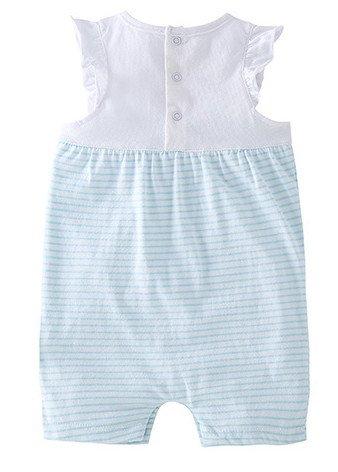 Sans Combinaison Eté Claire De Manche Bleu Naissance barboteuse Acvip Body Bébé Fille pyjama qBBI8