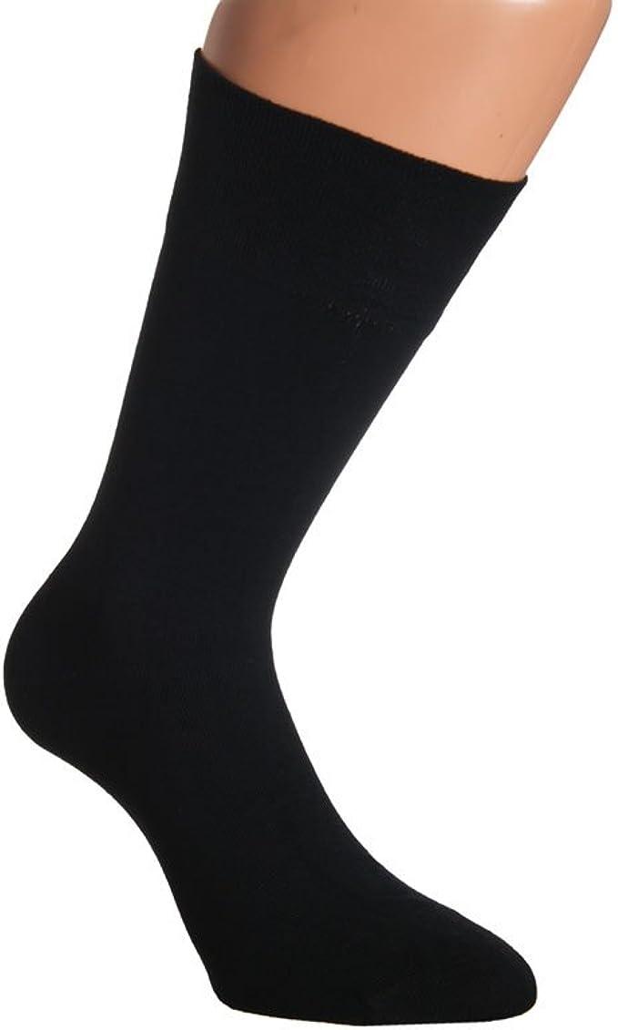 10 Paires de Chaussettes Business Noir 100/% Coton Sans Couture cousu main
