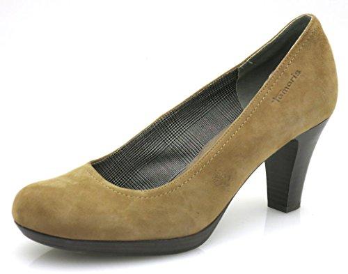 Zapatos Plataforma Tamaris Piel Marrón Ante Mujer Zapatos De 7v4O8qHw