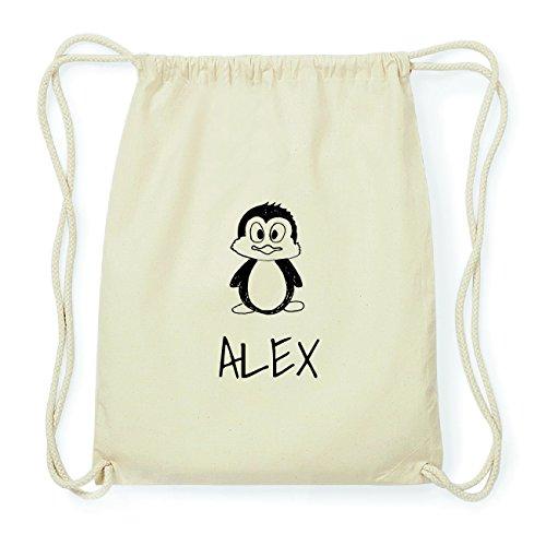 JOllipets ALEX Hipster Turnbeutel Tasche Rucksack aus Baumwolle Design: Pinguin