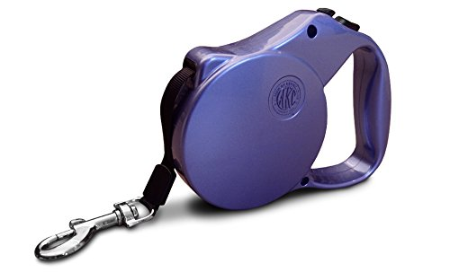Purple American Kennel Club AKC Metallic Double Lock Retractable Safety Leash