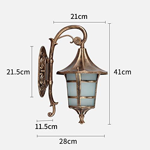 Hdmy Lampada da parete classica balcone impermeabile europea retro lampada da parete esterna Lanterna da esterno per esterni lampada da giardino cortile americano lampada da giardino
