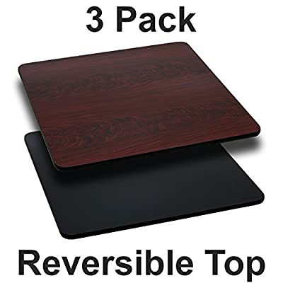 Flash Furniture 24'' Square Table Top with Reversible Laminate Top