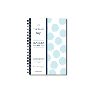 Kahootie Co Undated Daily Planner for Busy Days- keep focused, on task, accomplish top 4 daily to-do's, plan meals and fitness activity in advance, double to-do lists, (Teal Polka Dots)