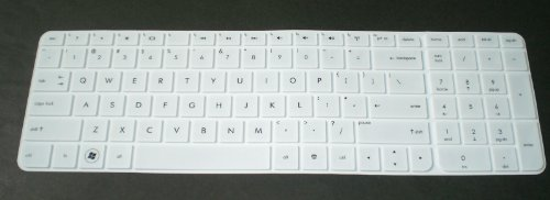 BingoBuy® White Ultra Thin High Quality Silicone Keyboard Protector Skin Cover for 17.3-inch HP Pavilion ENVY dv7-7*** dv7t-7*** g7-2*** m7-1*** series, such as g7-2220us, g7-2226nr, g7-2240us, g7-2243us, g7-2246nr, g7-2240us, g7-2269wm, g7-2270us, g7-2275dx, g7-2320dx, g7-2325dx, g7-2340dx dv7-7230us, dv7-7240us, dv7-7255dx, dv7-7250us, dv7t-7300, m7-1015dx (if your
