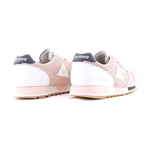 Le Coq Sportif Chaussures Omega Premium Rose/Blanc/Charbon Taille: 42