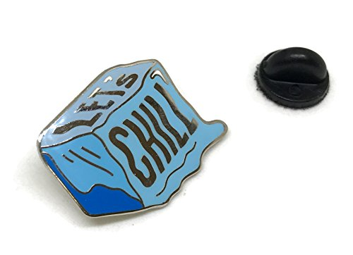- Let's Chill Enamel Lapel Pin for Shirt Hat Jacket Hooddie