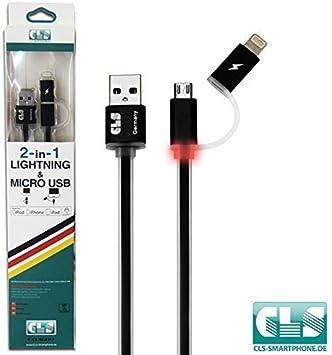 CLS Smartphone 2-en-1 cable de datos del cable del cargador de ...