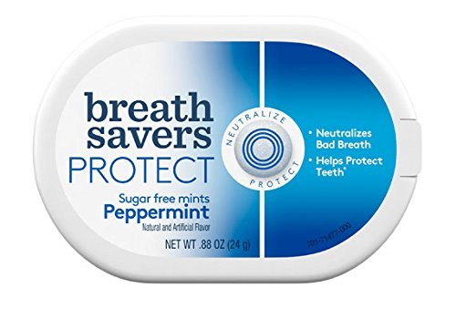 (Breath Savers Protect Sugar Free Mints Peppermint 6 Count)
