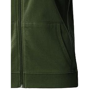 Regna X Women's Long Sleeve Pullover Hoodie Cotton Full Zip Hoodie Green 2XL