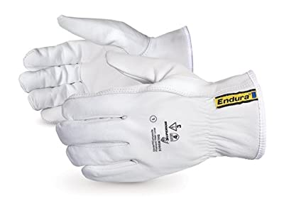 Superior 378GKTFG Grain Goatskin Leather Drivers Glove with Keystone Thumb and Kevlar/Glass Lined (Pack of 1 Pair)