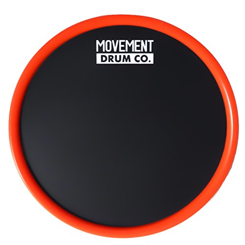 Ultra Portable Practice Pad - 6'' Drum Pad (Red) - Case Included by Movement Drum Co.