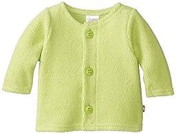 Zutano Unisex Baby Cozie Fleece Jacket,Lime,3 Months