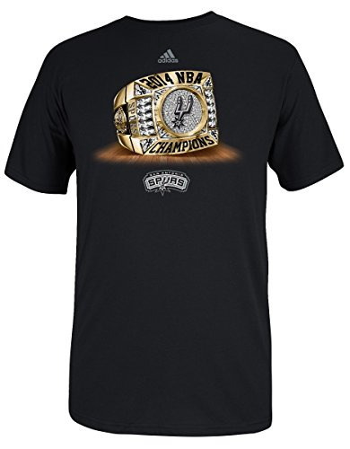 (adidas San Antonio Spurs 2014 NBA Champs Championship Ring T-Shirt Small)