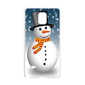 Snowman Samsung Galaxy Note 4 Cell Phone Case White V09727108