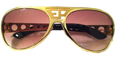 ELVIS SUNGLASSES AVIATOR WITH TRADE MARK GOLD EP GOLD - Sunglasses Trademark