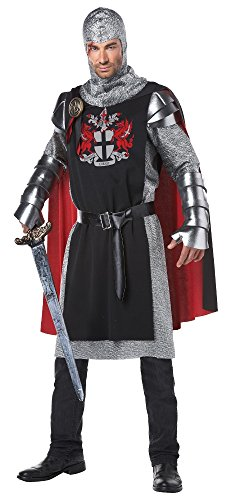 California Costumes Men's Renaissance Medieval Knight Ren Faire Costume, Black/Red, ()