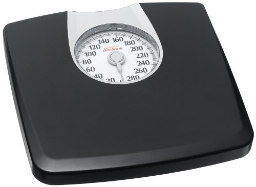 (sca sunbeam dial scale with oversize dial display for easy reading ,Black with Silver Accent )