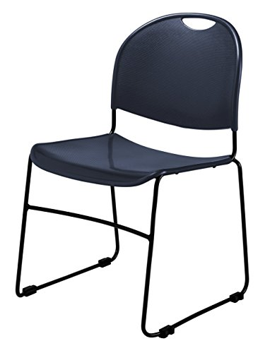 Commercialine Multi-Purpose Ultra Compact Stack Chair, Navy Blue by Commercialine