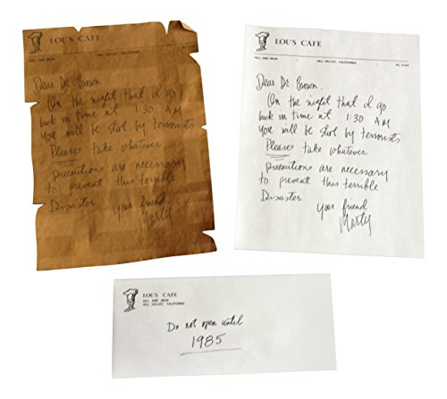 Back to The Future Inspired Marty McFly Written Warning Letters to Doc Brown with 1955 Lou's Cafe/Hill Valley Letter and Envelope Novelty Movie memrabilia