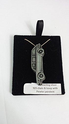Triumph 2000MK1Break ref264Effet Étain emblème Argent 925collier en argent sterling fait à la main sur une véritable 40,6cm Chaîne avec prideindetails Boîte Cadeau