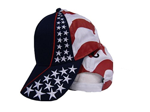 (K's Novelties USA American United States Flag Embroidered Stars Stripes Baseball Cap Hat)
