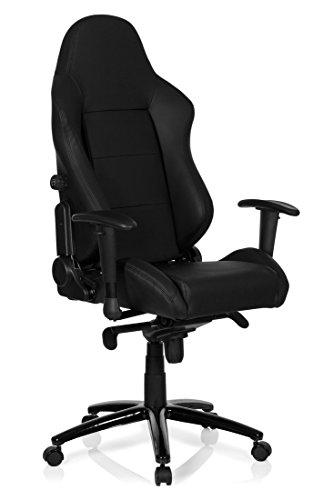 hjh OFFICE Gaming Stuhl / Bürostuhl Sportsitz Kunstleder INDY schwarz
