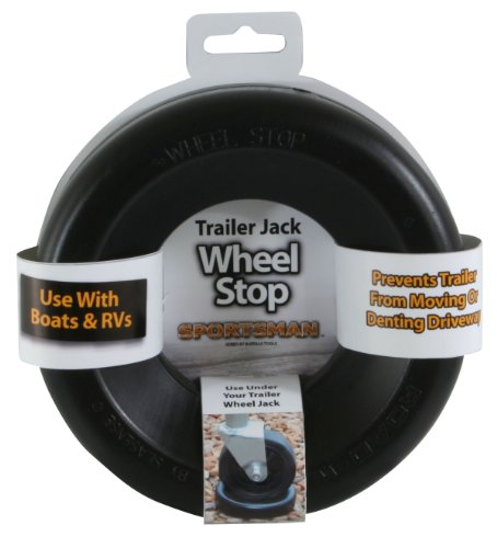 Sportsman TJSTOP Black Trailer Jack Wheel Stop