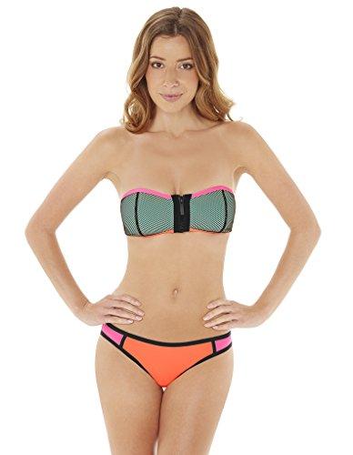 Maillot de bain Audelle Bandeau Zippe Surf Multicolore Pink Multi