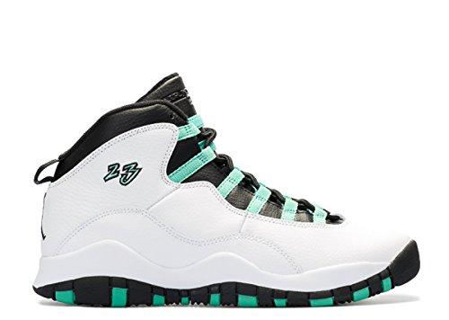 Flickor Nike Air Jordan 10 Retro 30th Gg Verde Basket Skor - 705.180 118 Vit, Verde-svart-infraröd 23