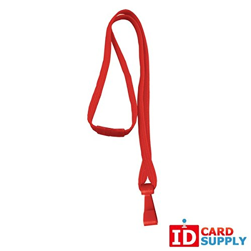 Red 3/8 Breakaway Lanyards w/No-Twist Hook [BL-34H-RED] QTY:100 ()
