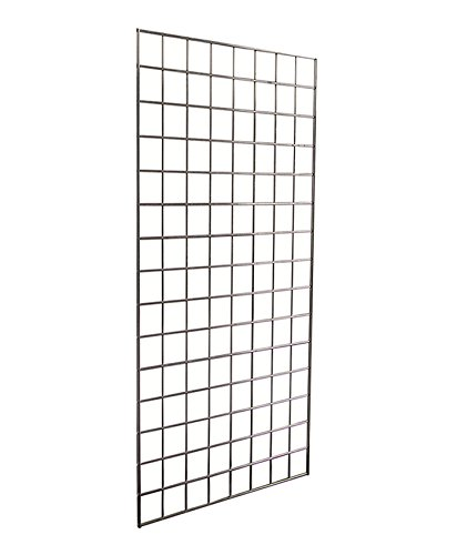 - AMKO GP24 Gridwall Panel 2 ft. x 4 ft, Chrome Finish, ¼ in. Wire, Reinforced Double Vertical Sides, Metal Construction (Pack of 3)