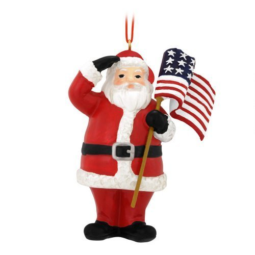 Patriotic Santa Ornament 3-1/2 IN. x 2-3/4 IN. x 1 IN.