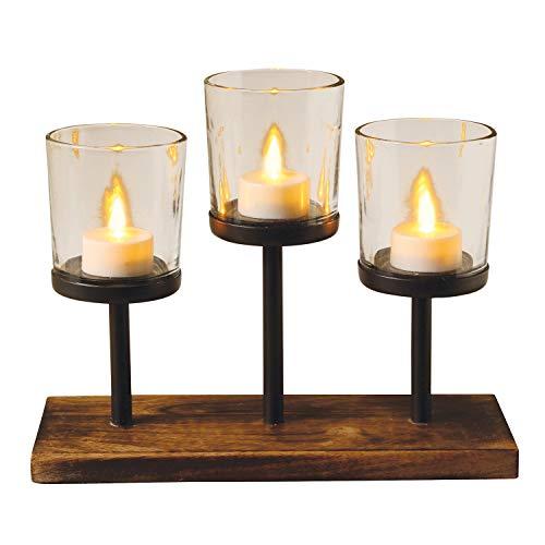 Home Essentials 3-Tealite Knighton Votives Candle Holder ()