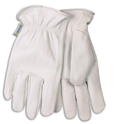 (92w-M Women'S Medium Gray Goatskin Driver Gloves W/Keystone Thumb)