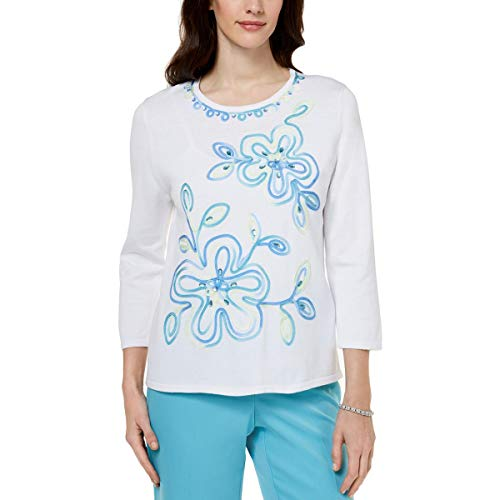 Alfred Dunner Ribbon Flower Sweater X-Large ()