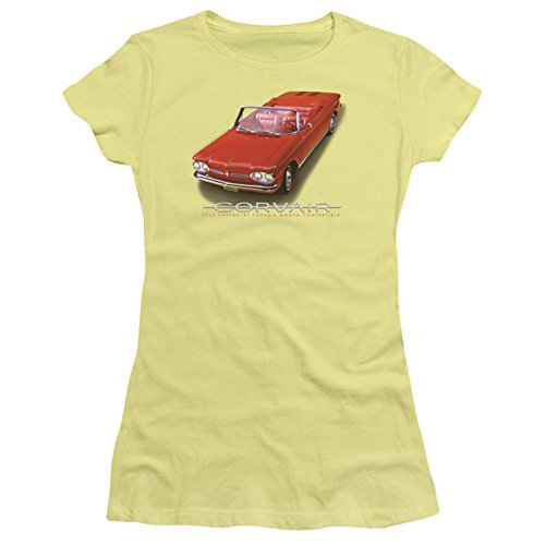 Monza Corvette (Juniors: Chevy- 62 Corvair Monza Convertible Juniors (Slim) T-Shirt Size XXL)