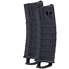 Tippmann TMC Magazine - 20 rds - 2 Pack Black        Reload on the fly with two extra magazines for the Tippmann TMC Magfed paintball marker. Features:        2 Pack 0.68 Caliber Magazines 20 Round Spring Loaded Magazines
