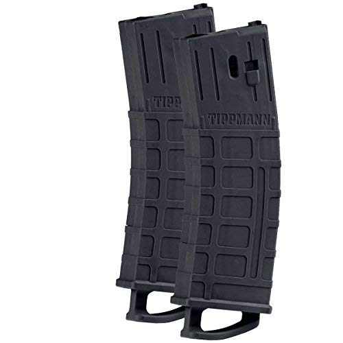 (Tippmann TMC MAGFED Paintball Marker Magazines - 2 Pack Black)