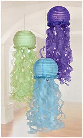 Amscan Mermaid Wishes Hanging Lanterns product image