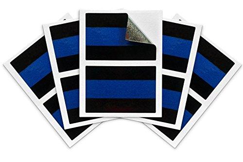 Cops Sticker - Blue Lives Matter License Plate Sticker - Pack of 10 - Vinyl Decal - Weatherproof - Reflective Cop Thin Blue Line Decals - Thin Blue Line Flag Support Police/Law Enforcement Officers (1
