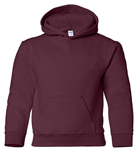 Maroon Youth Hoodie (Heavy Blend Youth Hooded Sweatshirt, Color: Maroon, Size: Large)