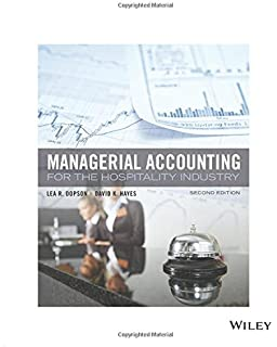 Managerial accounting for the hospitality industry lea r dopson managerial accounting for the hospitality industry 2e fandeluxe Choice Image