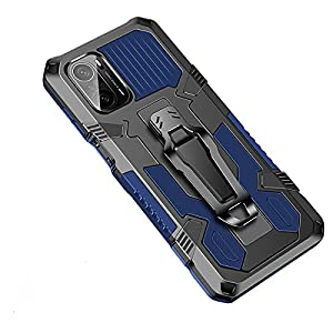 Bounceback Rubber Stand Back Cover Case for Mi 11X / Mi 11x Pro  Without Screen Protector - Blue