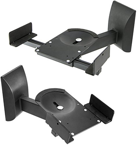 VIVO Dual Pair Adjustable Wall Mounting Surround Sound Speaker Mounts Clamp Style w/ Tilt & Swivel (MOUNT-SP201) (Dj Surround Sound Speakers)