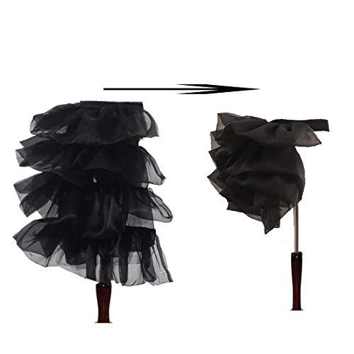 MAYSONG Victorian Steampunk Bustle Belt Burlesque overskirt Black]()