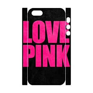 Love Pink DIY 3D Case Cover for Iphone 5,5S,Love Pink custom 3d case cover